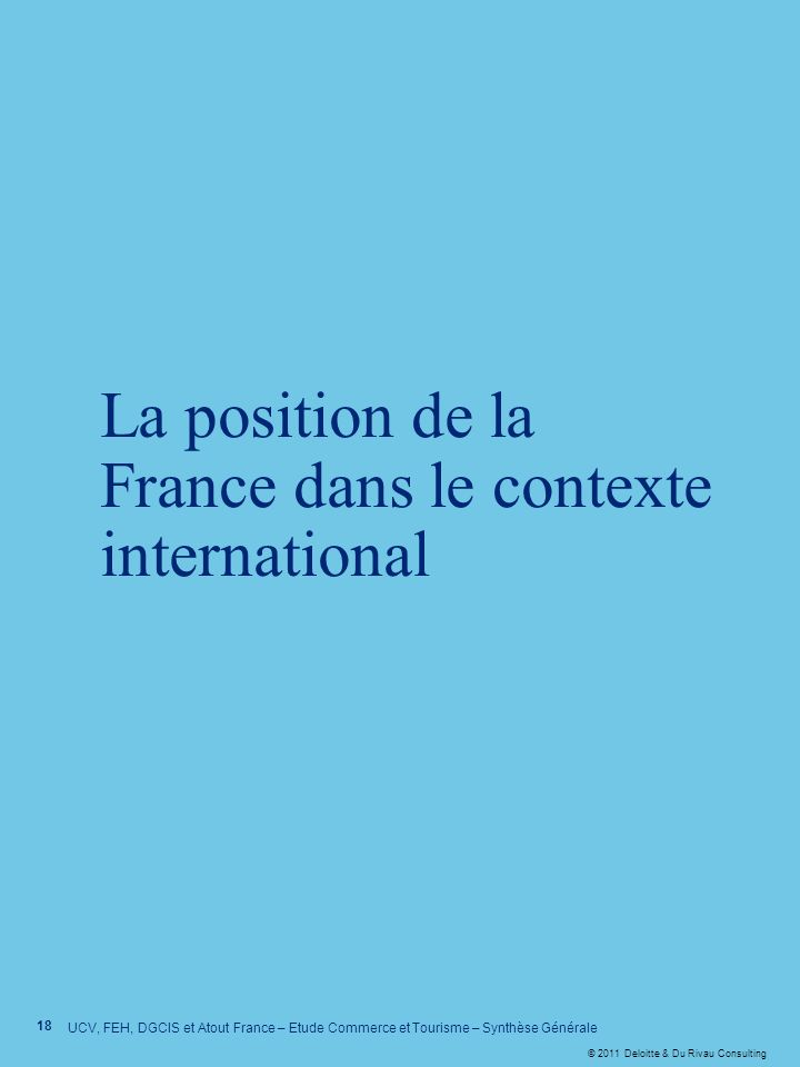 La position de la France dans le contexte international