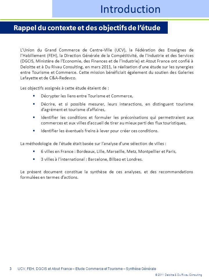 Introduction Rappel du contexte et des objectifs de l'étude