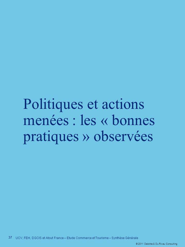 Politiques et actions menées : les « bonnes pratiques » observées