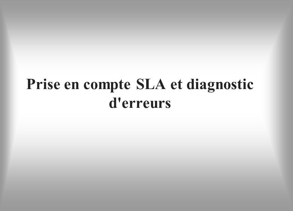 Prise en compte SLA et diagnostic d erreurs