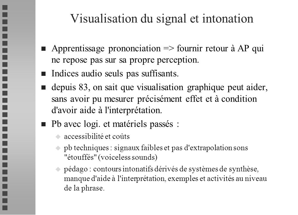Visualisation du signal et intonation