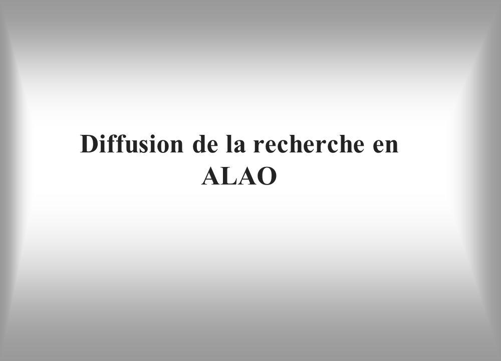 Diffusion de la recherche en ALAO