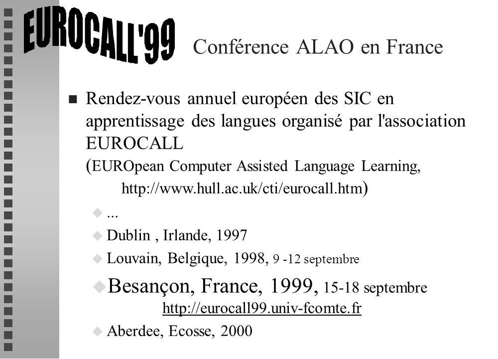 Conférence ALAO en France