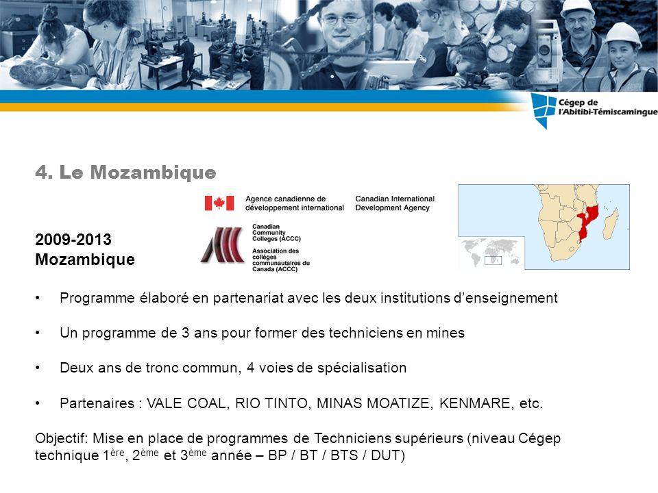 4. Le Mozambique 2009-2013 Mozambique