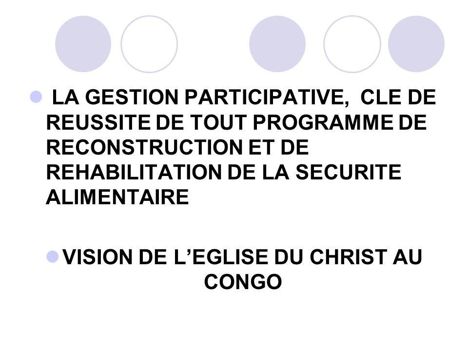 VISION DE L'EGLISE DU CHRIST AU CONGO