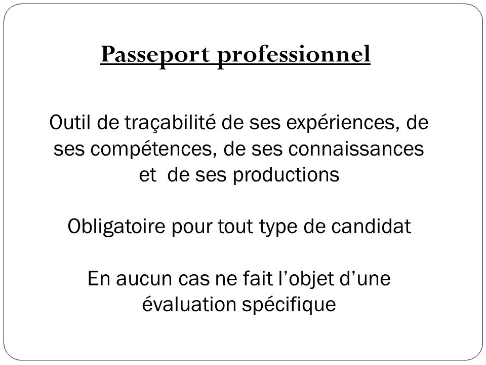 Passeport professionnel