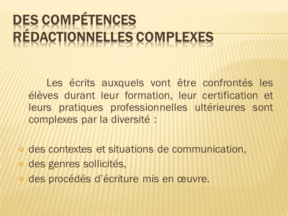 Des compétences rédactionnelles complexes