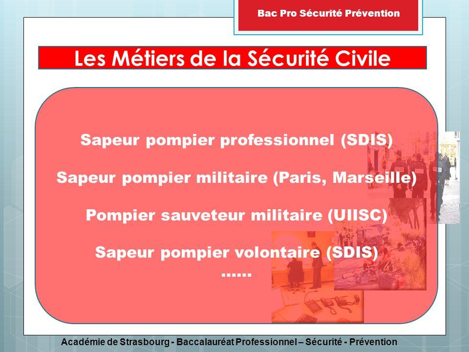 Les Métiers de la Sécurité Civile