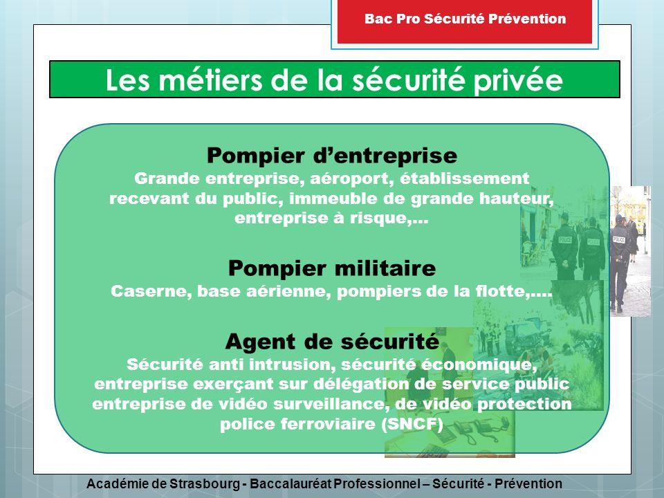 Les métiers de la sécurité privée