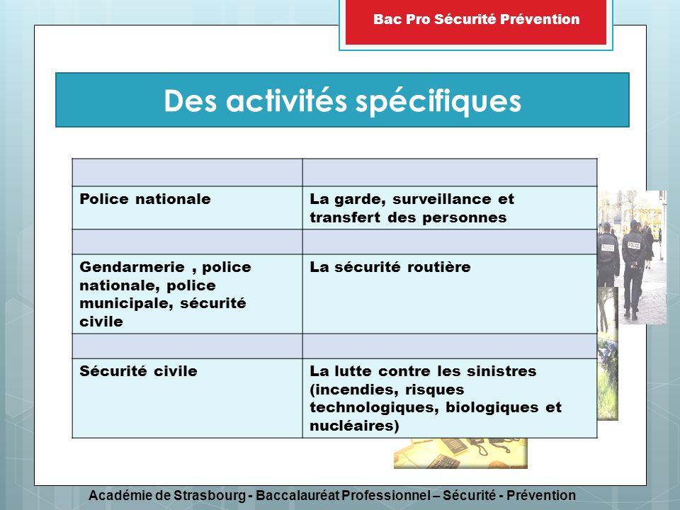 Des activités spécifiques