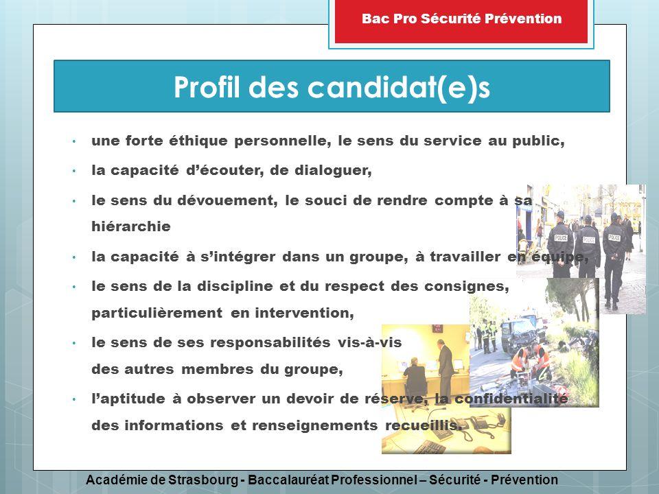Profil des candidat(e)s