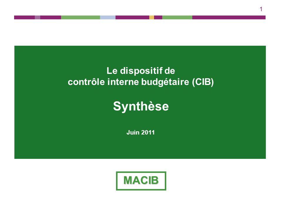 contrôle interne budgétaire (CIB)