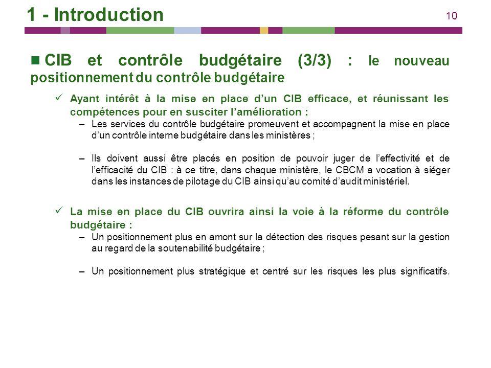 1 - Introduction CIB et contrôle budgétaire (3/3) : le nouveau positionnement du contrôle budgétaire.