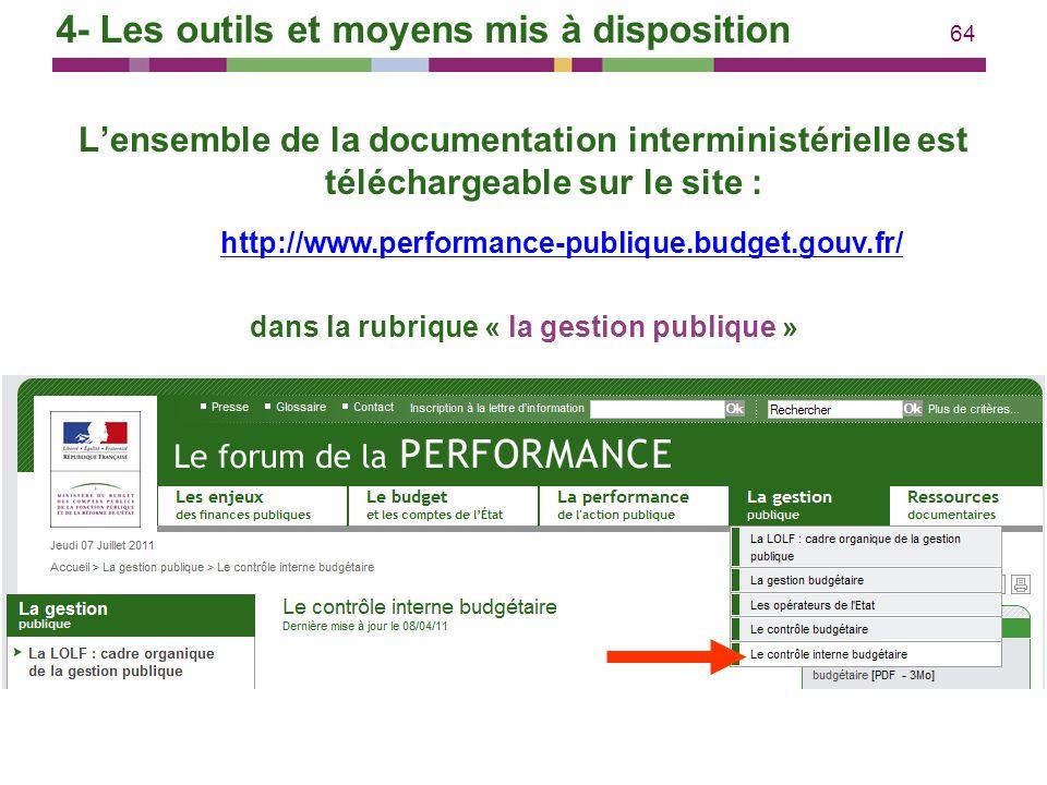 dans la rubrique « la gestion publique »