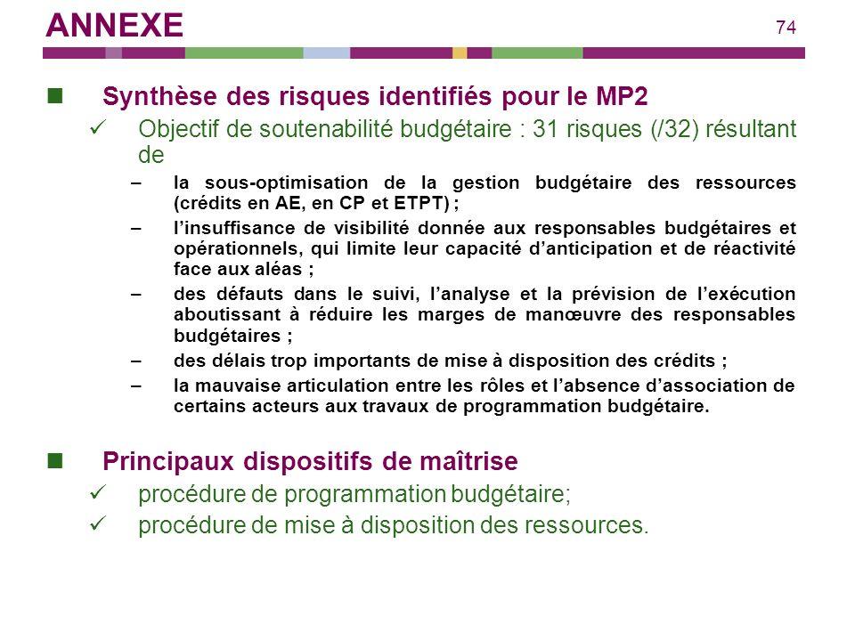 ANNEXE Synthèse des risques identifiés pour le MP2