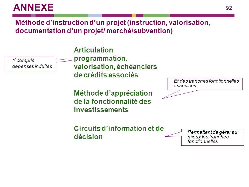 ANNEXE Méthode d'instruction d'un projet (instruction, valorisation, documentation d'un projet/ marché/subvention)