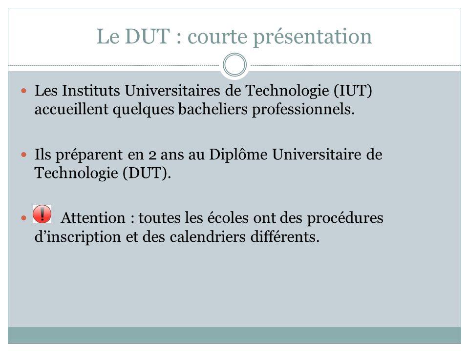 Le DUT : courte présentation