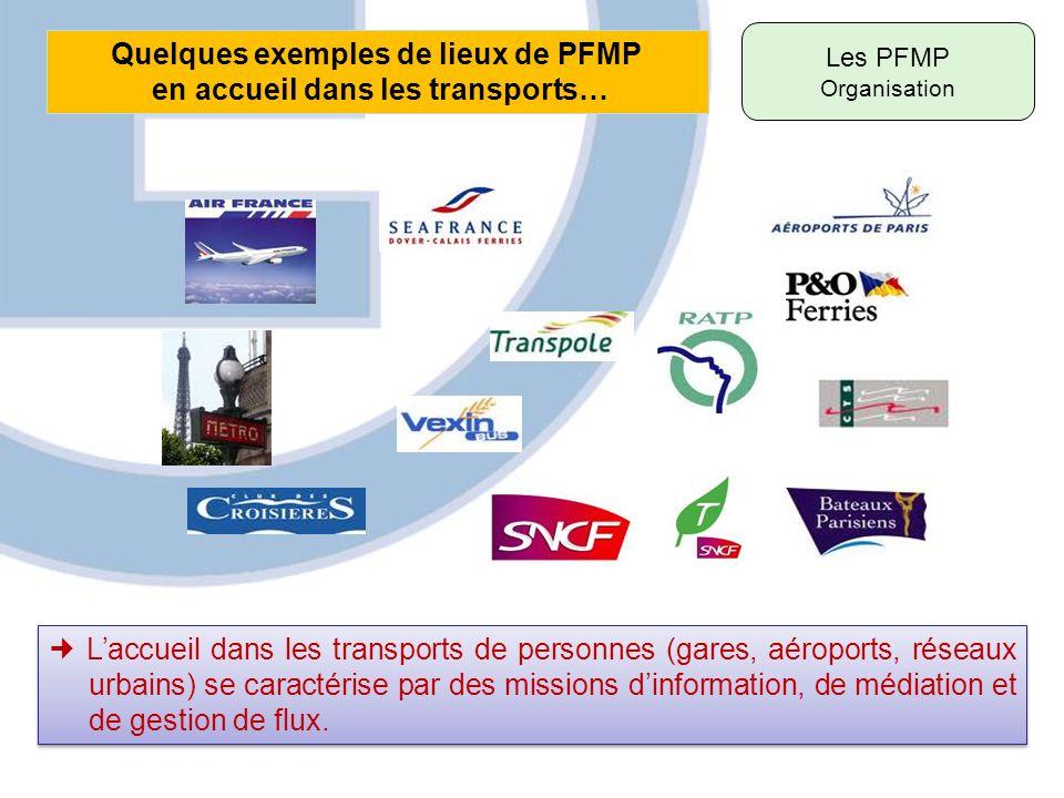 Quelques exemples de lieux de PFMP en accueil dans les transports…