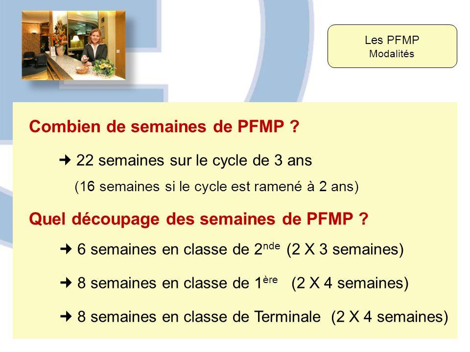 Combien de semaines de PFMP
