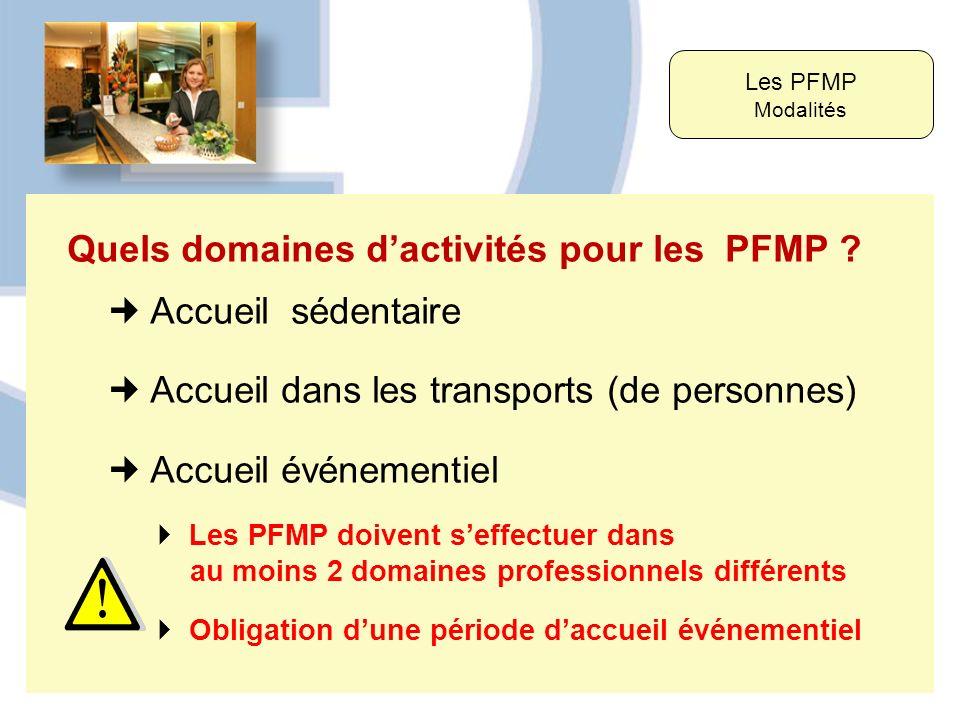 Quels domaines d'activités pour les PFMP