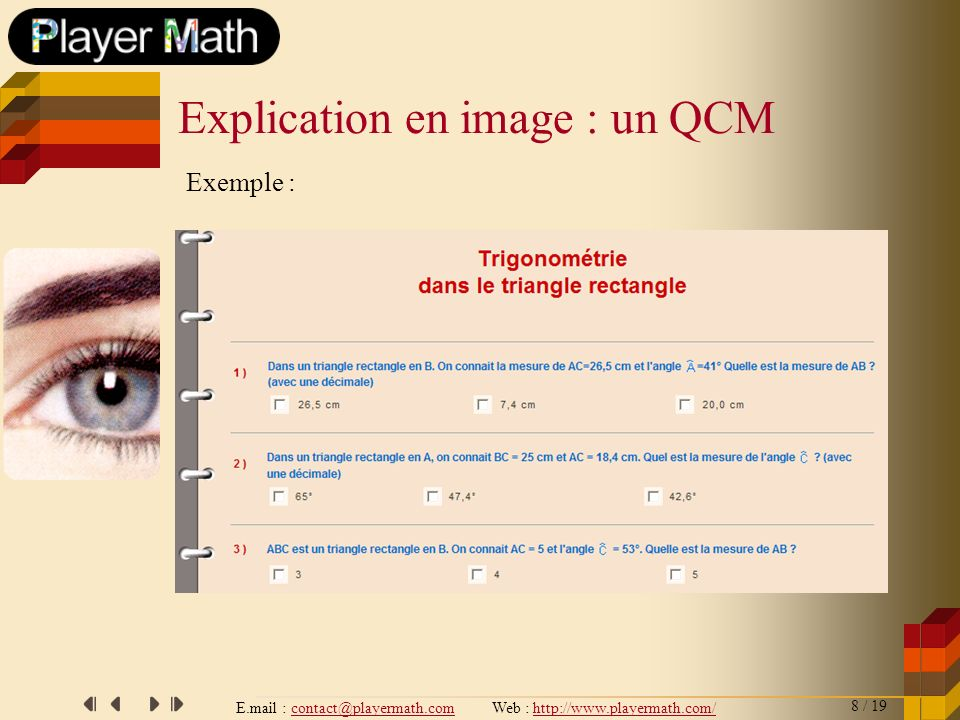Explication en image : un QCM