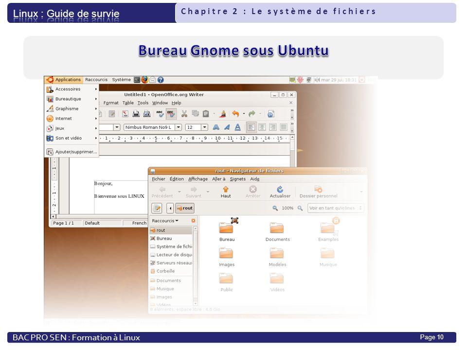 Bureau Gnome sous Ubuntu
