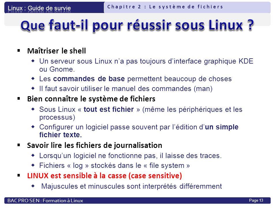 Que faut-il pour réussir sous Linux