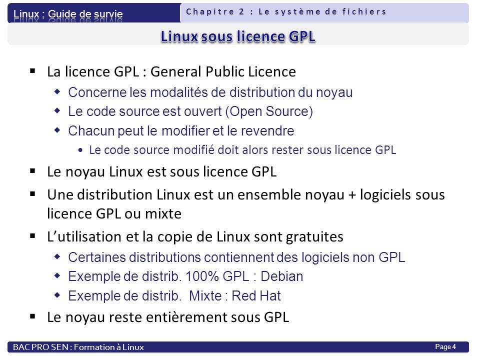 La licence GPL : General Public Licence