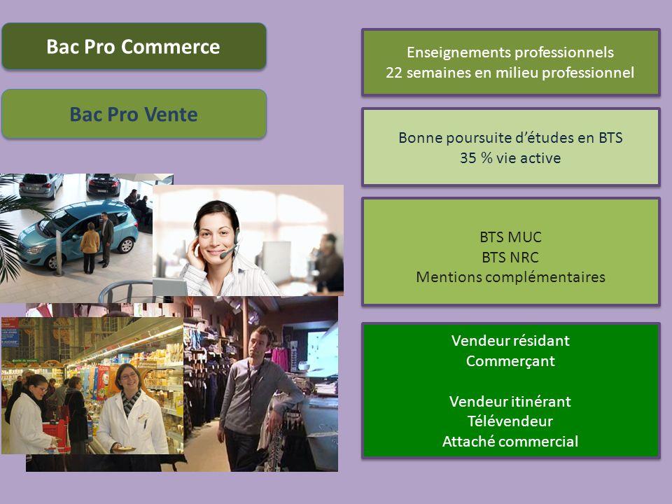 Bac Pro Commerce Bac Pro Vente
