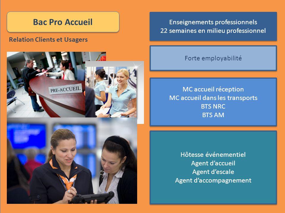 Bac Pro Accueil Enseignements professionnels