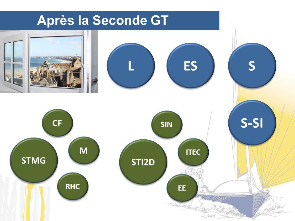 Après la Seconde GT L ES S S-SI STMG M CF RHC STI2D ITEC SIN EE