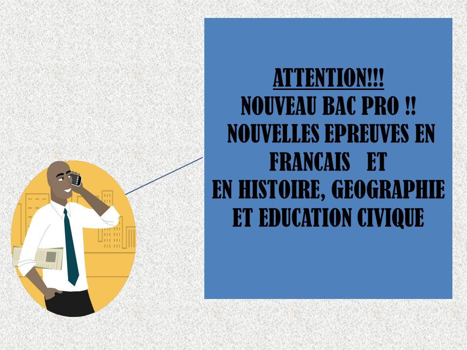 NOUVELLES EPREUVES EN FRANCAIS ET