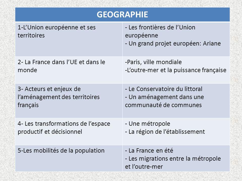GEOGRAPHIE 1-L'Union européenne et ses territoires