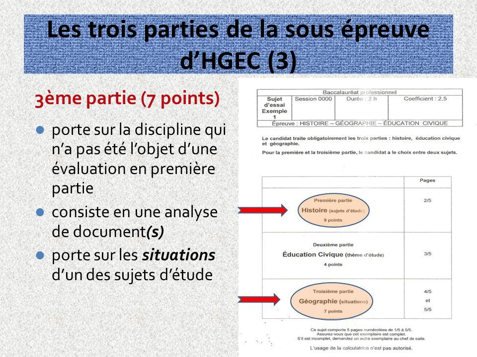 Les trois parties de la sous épreuve d'HGEC (3)