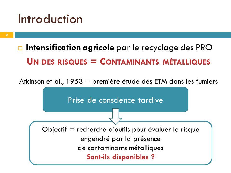 Un des risques = Contaminants métalliques