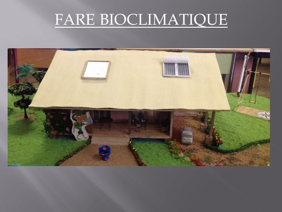 FARE BIOCLIMATIQUE
