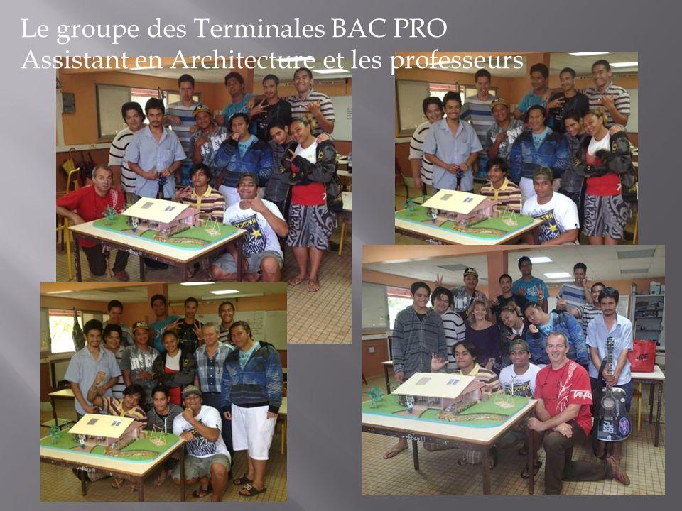 Le groupe des Terminales BAC PRO
