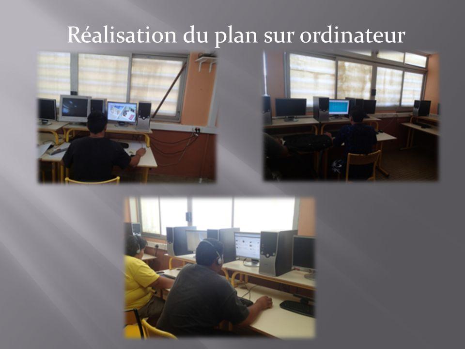 Réalisation du plan sur ordinateur