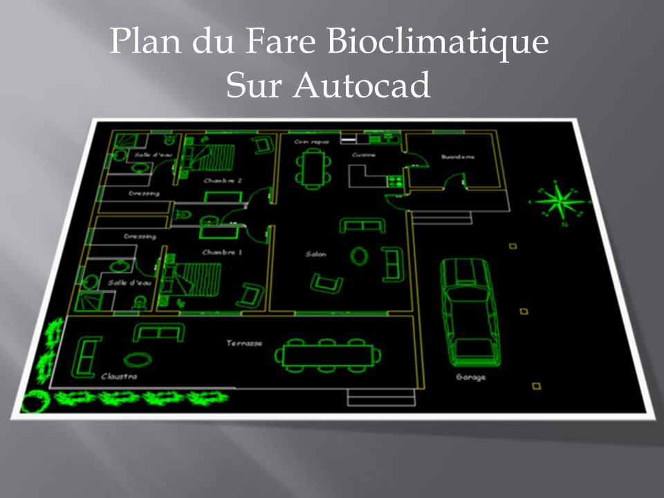 Plan du Fare Bioclimatique