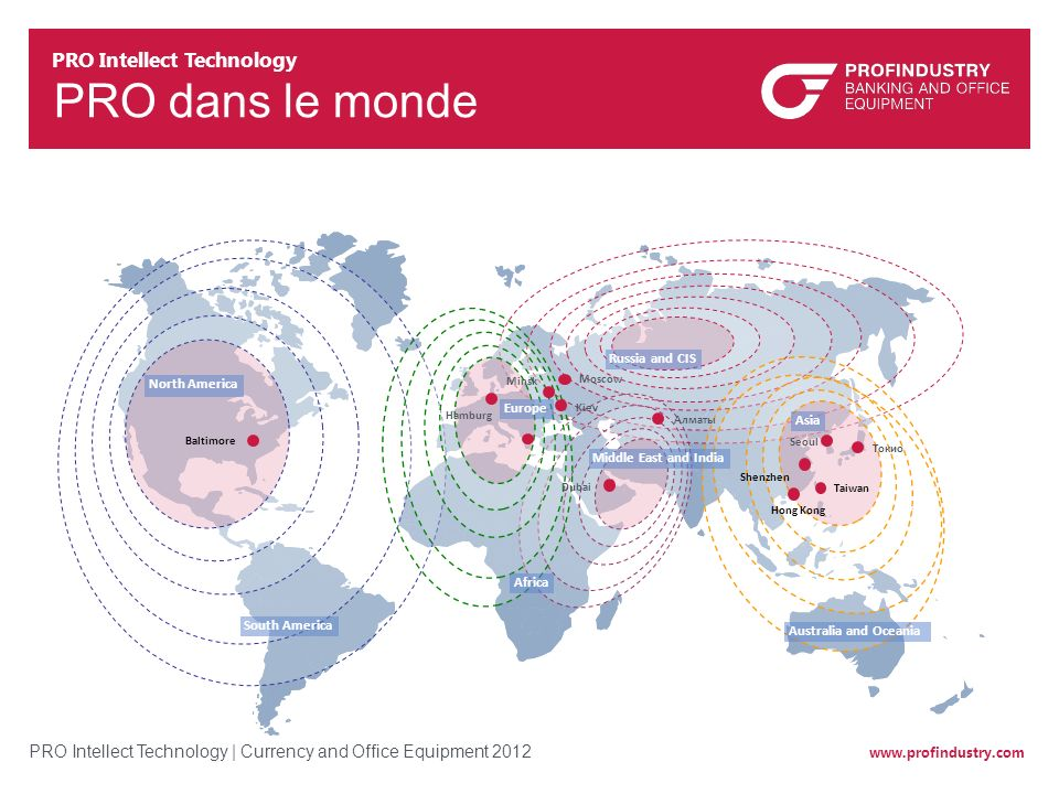 PRO dans le monde PRO Intellect Technology Russia and CIS