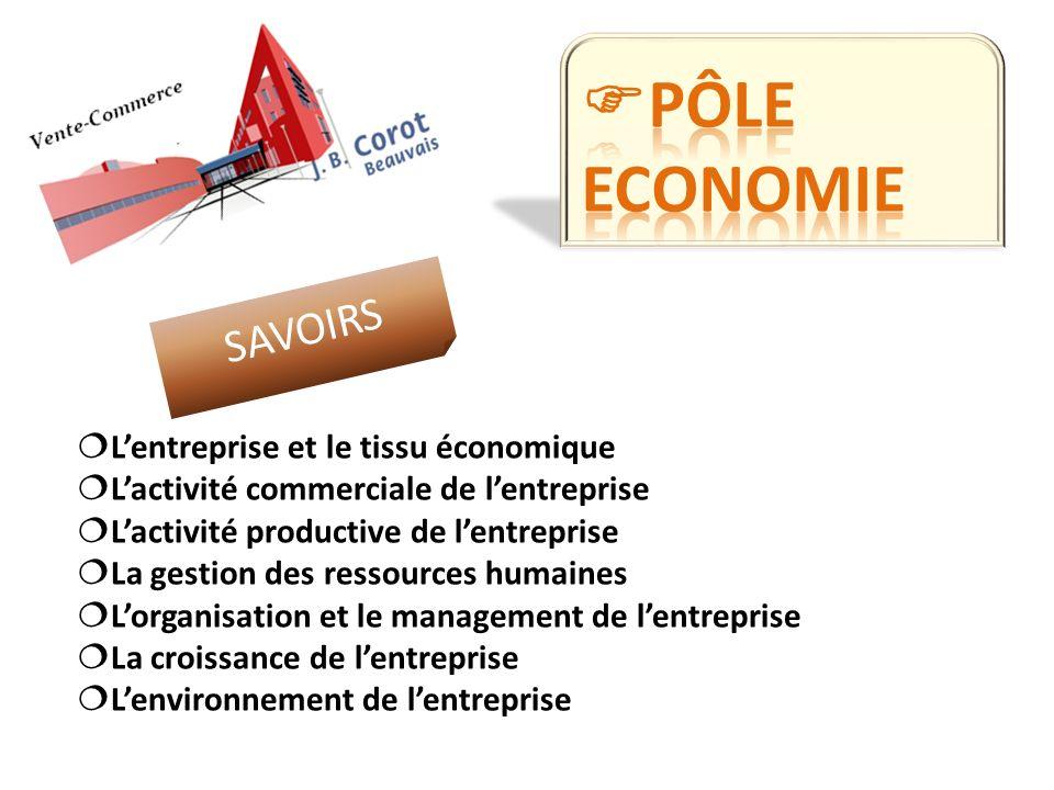 Pôle economie SAVOIRS L'entreprise et le tissu économique