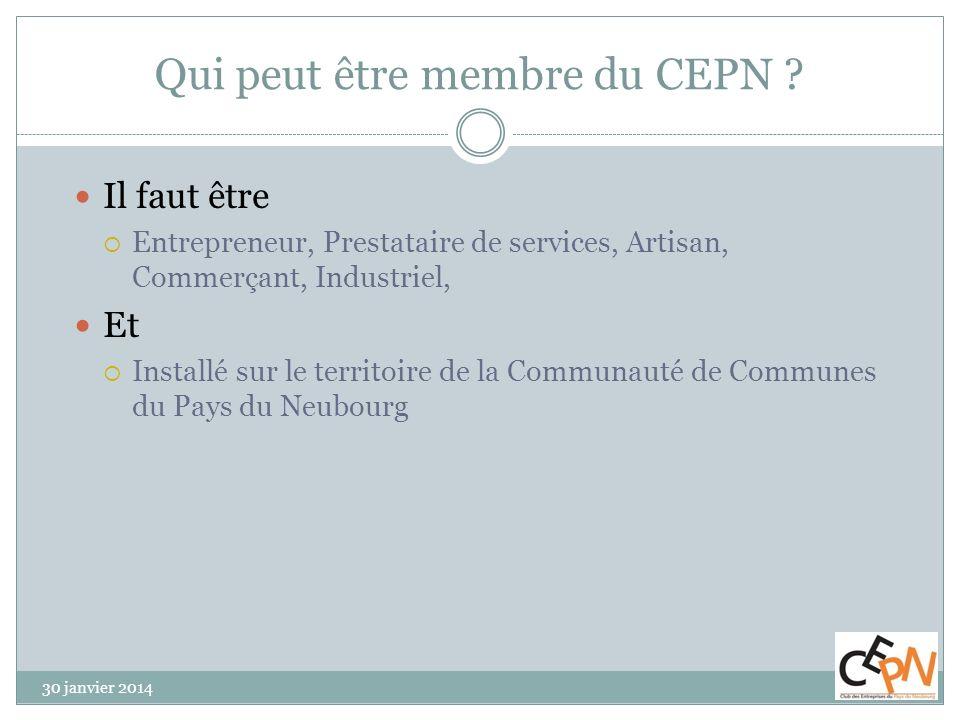 Qui peut être membre du CEPN