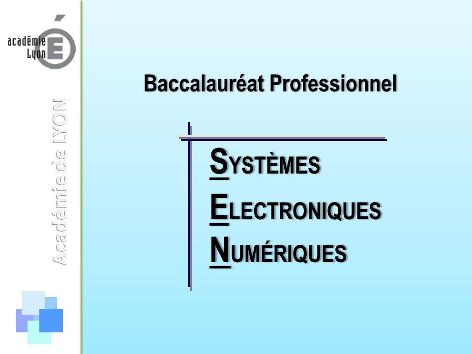 SYSTÈMES ELECTRONIQUES NUMÉRIQUES Baccalauréat Professionnel