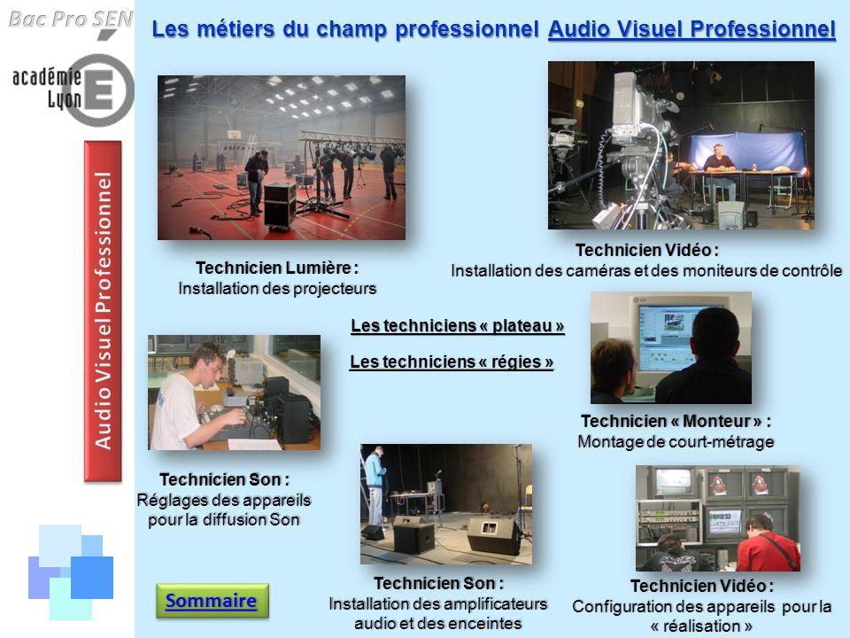 Audio Visuel Professionnel Technicien « Monteur » :