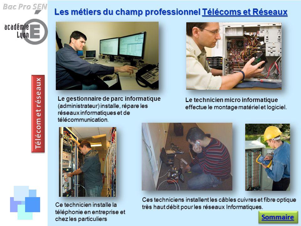 Bac Pro SEN Télécom et réseaux