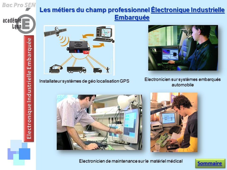 Les métiers du champ professionnel Électronique Industrielle Embarquée