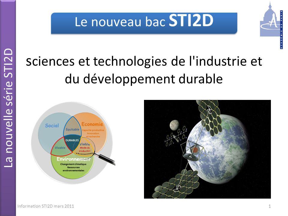 sciences et technologies de l industrie et du développement durable