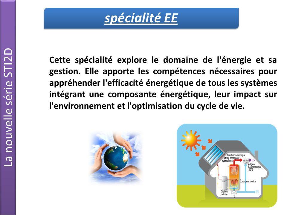 spécialité EE La nouvelle série STI2D