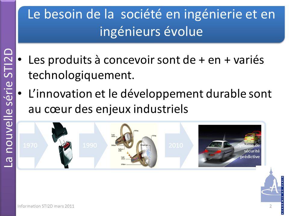 Le besoin de la société en ingénierie et en ingénieurs évolue