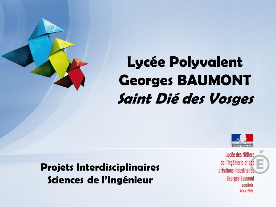 Lycée Polyvalent Georges BAUMONT Saint Dié des Vosges